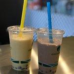 Mango and White Tea Boba Tea