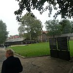 Inside the grounds of Auschwitz