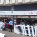 Outside space at Smoothbean!