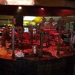 Meat being prepared