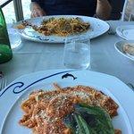 Tasty treat at Ristorante Bagni Delfino in Marina Grande.🐬