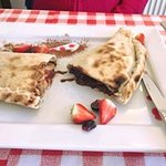 Nutella calzone, available with strawberries, bananas or both :)