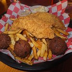 Frid Catfish with Hush Puppies & Fried