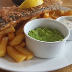 Very tasty fish and chips and friendly service