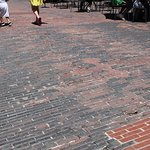 Uneven Brick Pavers in Eating & Shop Areas