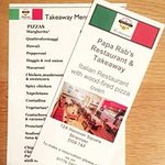 Takeaway and restaurant menus