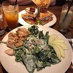Classic Waldorf Salad and Chicken Club Sandwich