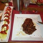 US-Ribeye mit ein bisschen Salat...