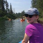 Enjoying the float!