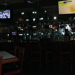 Full service bar and TV's