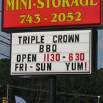 Triple Crown BBQ - Street Sign