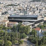 Acropolis museum, seen from Acropolis