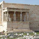 Copy of the Caryatides (originals now in the Acropolis museum), adorning the Erechtheion temple