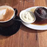 House made sticky date pudding served warm with your choice of double cream or ice cream with Co