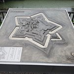 The stone map of the place