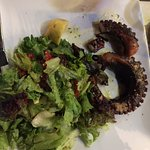 Burned, tough, inedible octopus