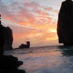Jungle phi phi trek Antrek thailand. Magic way sun set.