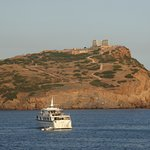 View of the Temple of Poseidon, Cap Sounio, Greece