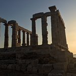 Temple of Poseidon, sunset
