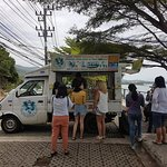 Coconut icecream at the lookout near Crystal Beach