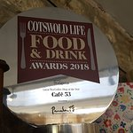 Cotswold Life Food& Drink Awards 2018 WINNERS - CAFE 53 Tetbury