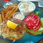 The great Turtle Shack Crab Cake Sandwich
