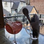 Rhubarb G&T on the Patio
