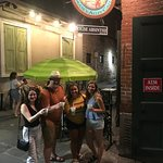 Our group at the second bar! We all tried absinthe and had a henceforth had a fun night!