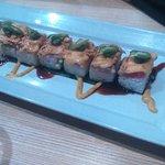 Tuna sushi as first dish