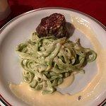 filet com massa verde