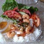 Grilled Shrimp over rice