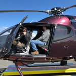 Preparing for take off in one of Reykjavik Helicopter's beautiful Helis