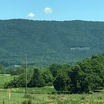 Endless Caverns signs seen from I-81