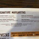 Menu: Signature Margaritas
