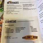 Menu: Adult Beverages, Cervezas