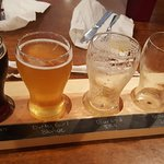 Sampler try fo craft beer.