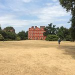 Kew Palace with sun scorched grass