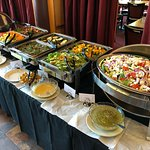 Buffet line, salads, and more