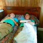 one of two beds in 4A - both in same room - excuse the nappers