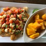 Hogfish with crab meat and butternut squash