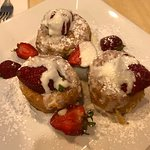 Deep fried strawberry biscuits