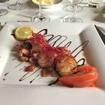 Scallops and bacon. So tasty.