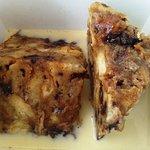 Heath Bar & Chocolate Chip Bread Pudding with a Bourbon Anglaise