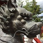 International Buddhist Temple, bronze dragon, June 2018