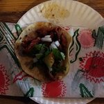 taco pastor (pork). I was so hungry that I ate the other taco before taking the picture.