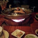 The cooking of the Lao BBQ