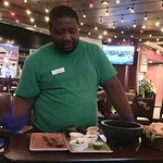 James making our guacamole fresh at the table side