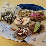 Taco sampler was enjoyed by all who ordered it.
