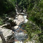 water running through chasm