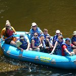 Exciting hang on to the seat of your pants, but not paddle, .02 mph raft ride